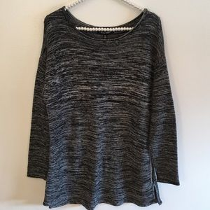 Ellen Tracy gray pull over sweater size XL
